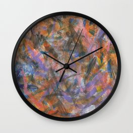 Dark Moods Brushstroke Abstract Wall Clock