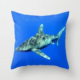 Oceanic Whitetip Shark Throw Pillow