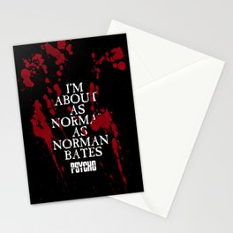 As normal as Norman Bates. Stationery Cards