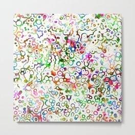 Abstract Microbes Metal Print