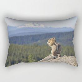 Chipmunk Facing Tom Dick and Harry Mountain Rectangular Pillow
