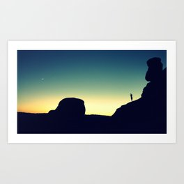 Sunset at DelicateArch Art Print