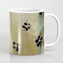 posies on vintage linen Coffee Mug