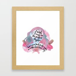 the perfect daughter - moana Framed Art Print