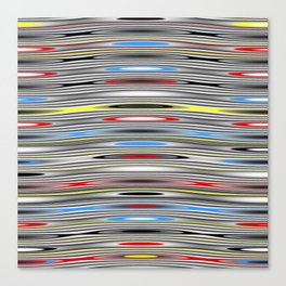 Wavy Chrome with Red, Yellow, Black, White Canvas Print