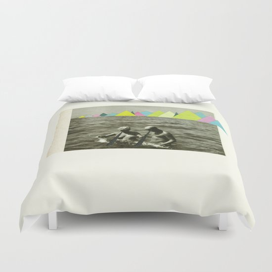 Holiday in the Mountains Duvet Cover
