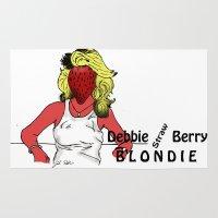 blondie Area & Throw Rugs featuring Debbie Straw-Berry   Blondie by Pattavina
