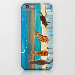 Cats on a Fence iPhone Case