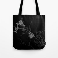 darwin Tote Bags featuring Darwin map Australia by Line Line Lines