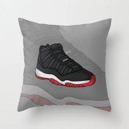 Jordan11-Breds Throw Pillow