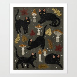 autumn cat magic Kunstdrucke