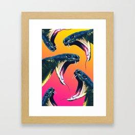 Snake attack Framed Art Print