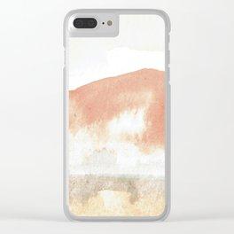 Terra Cotta Hills Abstract Landsape Clear iPhone Case