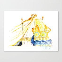 Tristan und Isolde - Wagner - Opera Illustrations Canvas Print