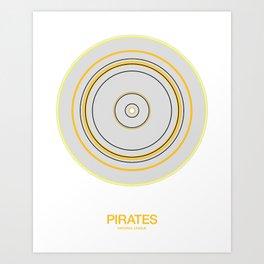 Pittsburgh rings Art Print