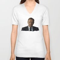 house of cards V-neck T-shirts featuring House Of Cards by BearClause