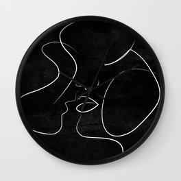 Couple Minimalist Artwork Wall Clock