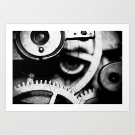Toothed Wheels Art Print