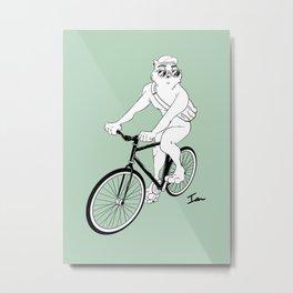 Owl Fixie Metal Print