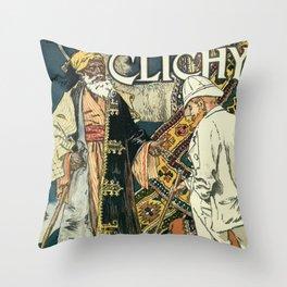 A la Place Clichy Paris 1891 Throw Pillow