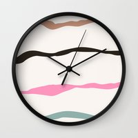joy Wall Clocks featuring Joy by Georgiana Paraschiv
