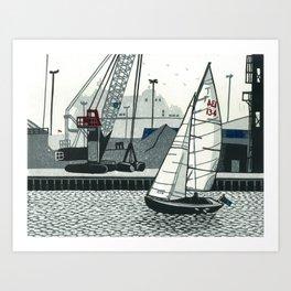 Poole Quay Art Print