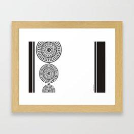Black and White Mandala - Boho Style ink art, Three Mandala Design Framed Art Print