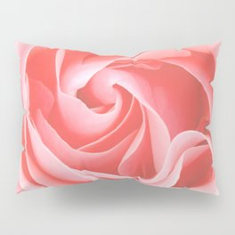 Velvet pink rose - Roses Flowers Flower Pillow Sham