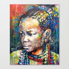 She - portrait of a beautiful woman Canvas Print