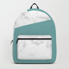 marble and green turquoise Backpack