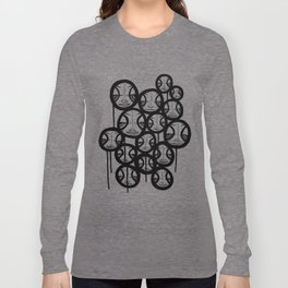 Faces In The Sky Long Sleeve T-shirt