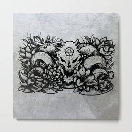 Hail Seitan Metal Print