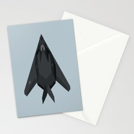 F-117 Nighthawk Stealth Jet Aircraft - Cloud Stationery Cards