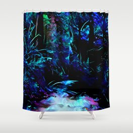 Blacklight Dreams of the Forest Shower Curtain