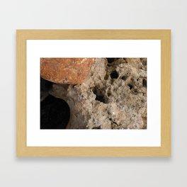 Orange and Spongy Framed Art Print