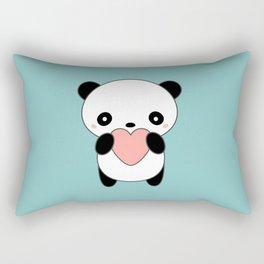 Kawaii Cute Panda Heart Rectangular Pillow