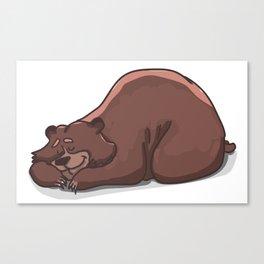 Sleeping bear Canvas Print