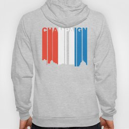 Red White And Blue Champaign Illinois Skyline Hoody
