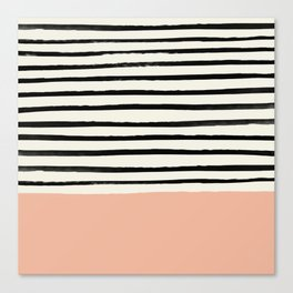 Peach x Stripes Canvas Print