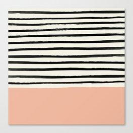 Peach x Stripes Canvas Print