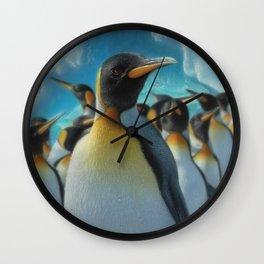 Penguin Paradise Wall Clock