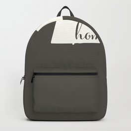 Massachusetts is Home - White on Charcoal Backpack
