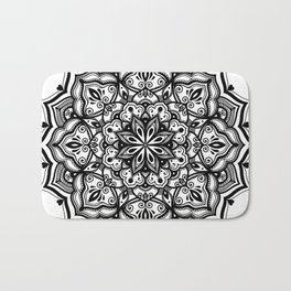 Heart mandala Bath Mat