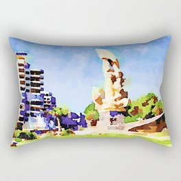 Monument and buildings in Aleppo Rectangular Pillow