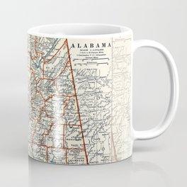 Alabama map with Camelias Coffee Mug