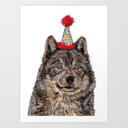 Wolf Party Art Print
