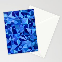 Blue tile mosaic Stationery Cards