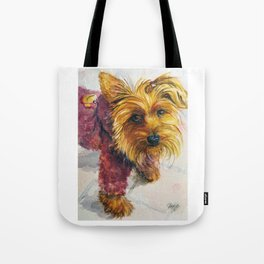 Sassy Sophie the Yorkie Puppy Tote Bag