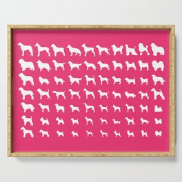 All Dogs (Pink) Serving Tray