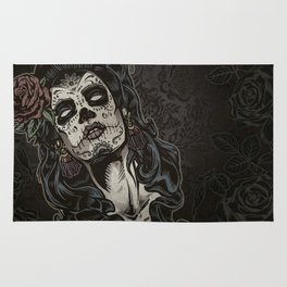 Day of The Dead Woman Rug